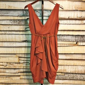 H&M • Sleeveless deep V-neck dress